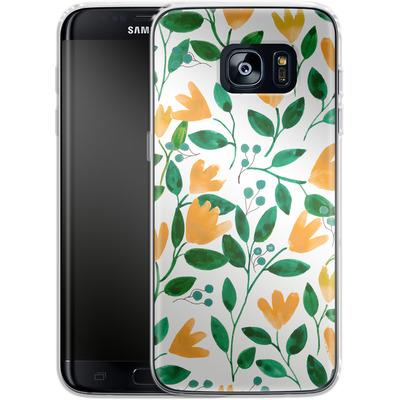 Samsung Galaxy S7 Edge Silikon Handyhuelle - Fresh Foliage von Iisa Monttinen