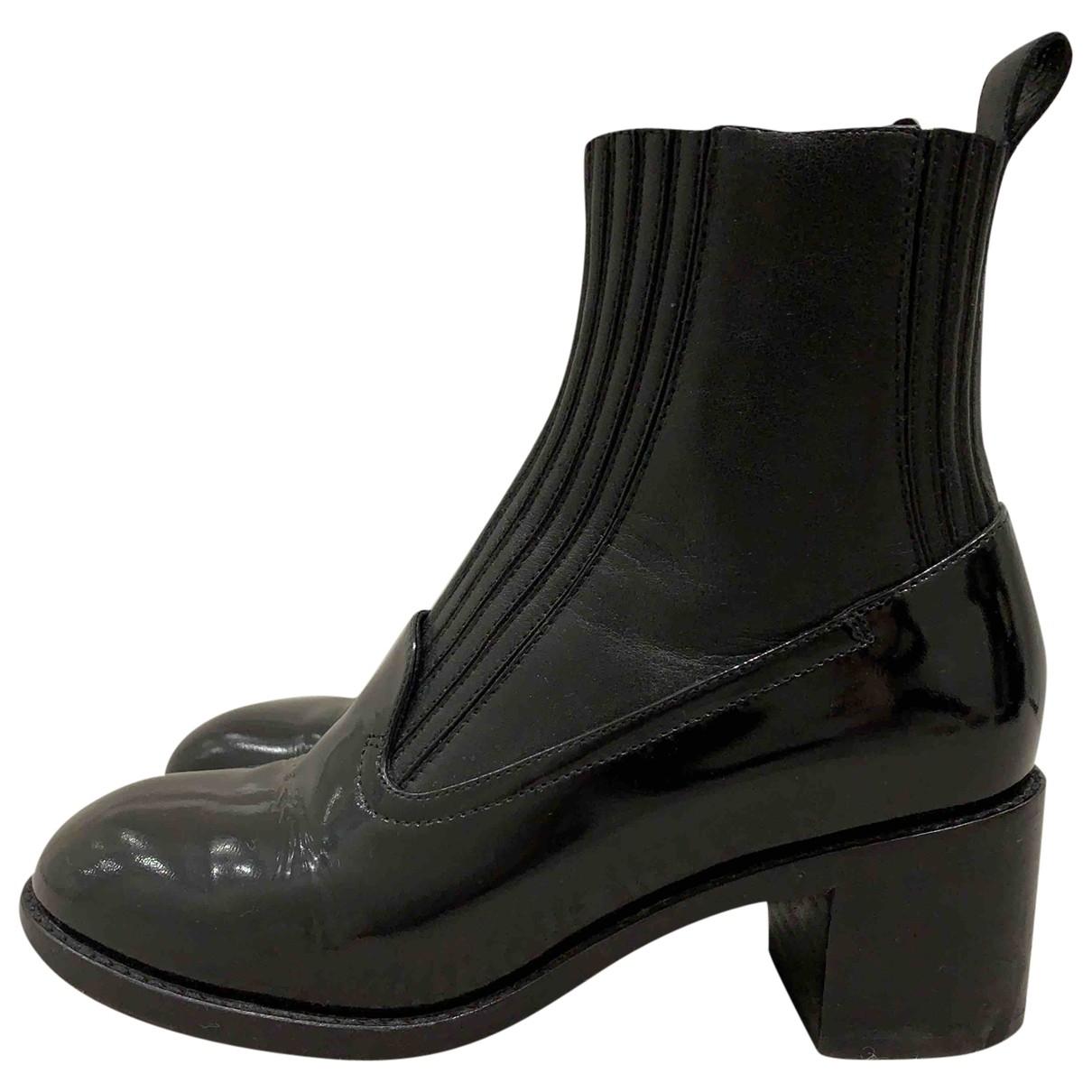Opening Ceremony - Boots   pour femme en cuir verni - noir
