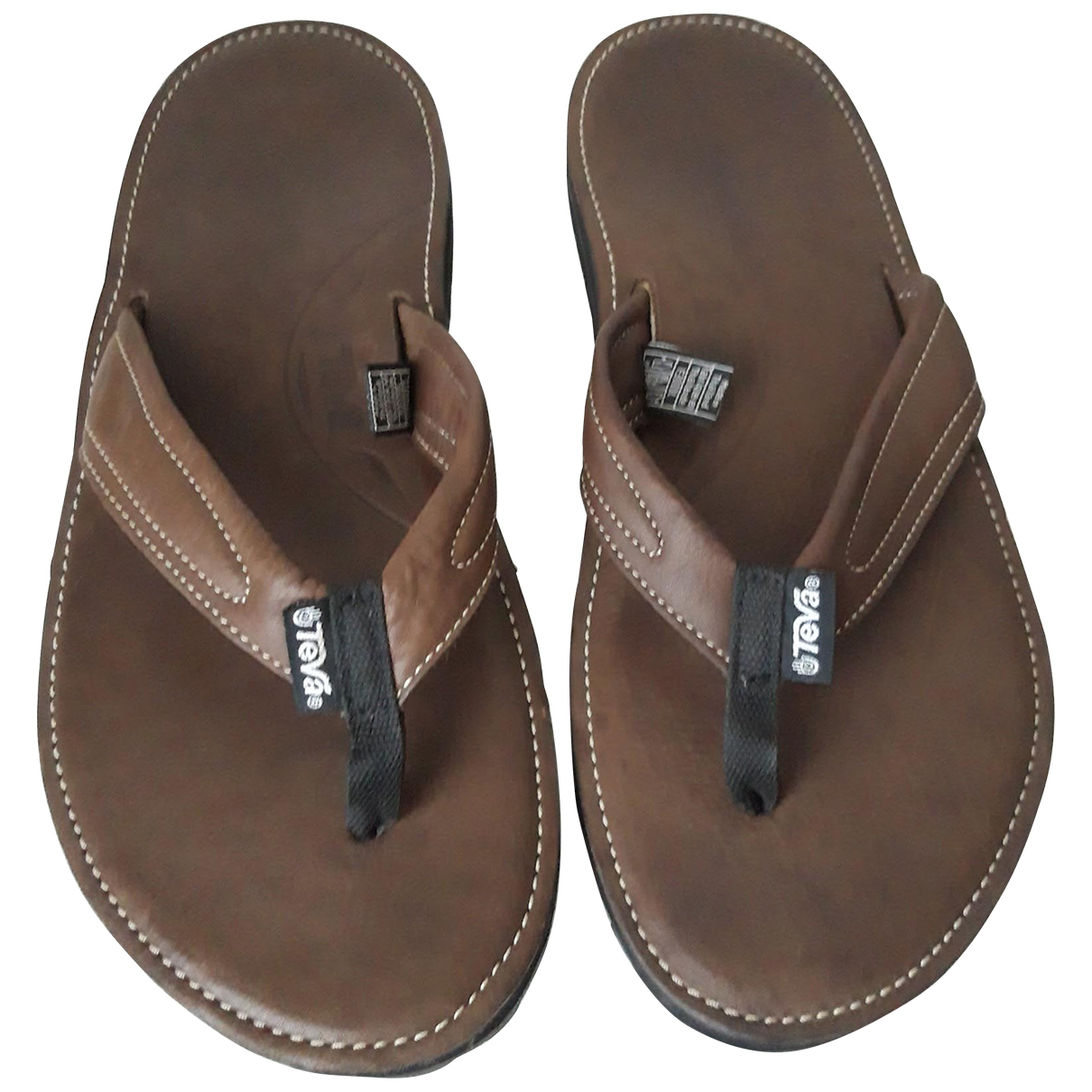 Teva \N Brown Leather Sandals for Men 45.5 EU