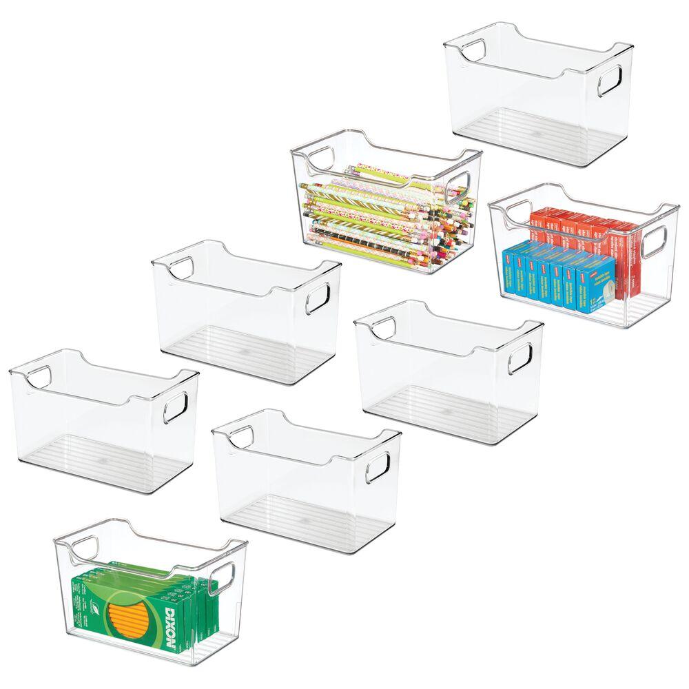 Large Plastic Home Office Desk Organizer Bin - 6