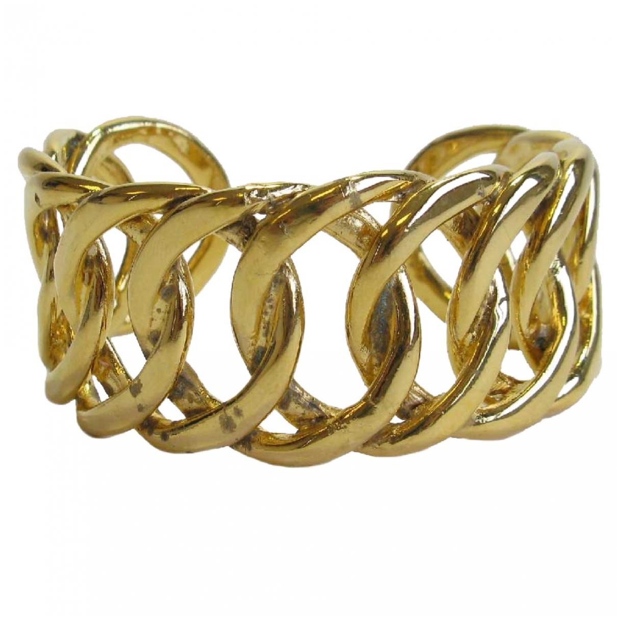 Chanel - Bracelet   pour femme en metal - dore