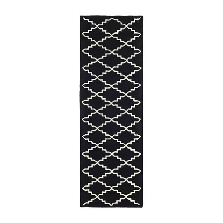 Safavieh Brittania Geometric Hand-Tufted Wool Rug, One Size , Black