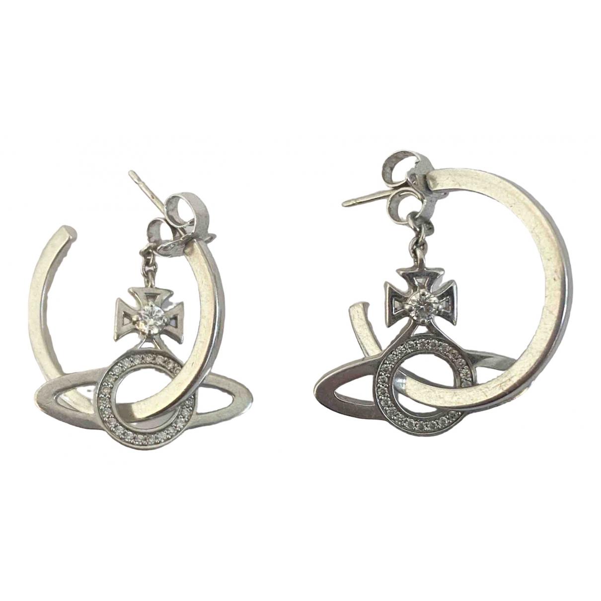 Vivienne Westwood \N OhrRing in  Silber Kristall