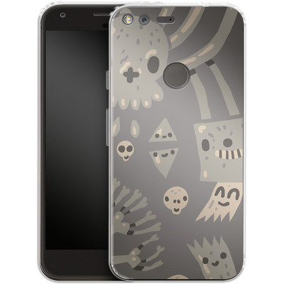 Google Pixel XL Silikon Handyhuelle - Cartoon Bones von caseable Designs