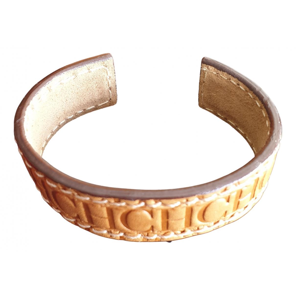 Carolina Herrera \N Armband in  Beige Leder
