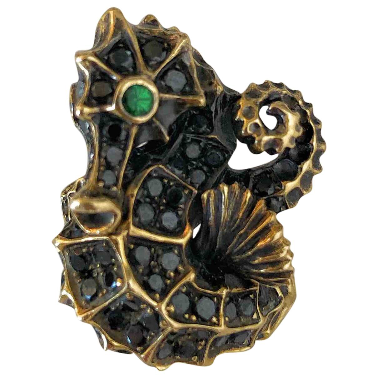 Lydia Courteille \N Ring in  Schwarz Gelbgold