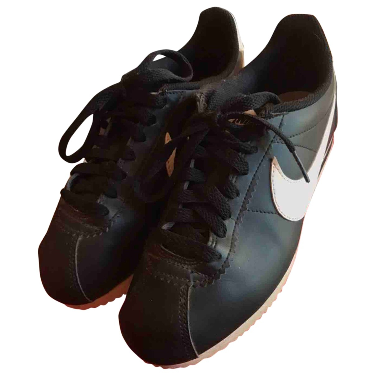 Nike Cortez Black Leather Trainers for Women 37.5 EU