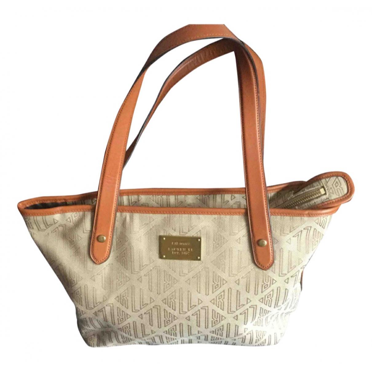 Lauren Ralph Lauren N Beige Cloth handbag for Women N