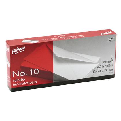 Hilroy@ Standard # 10 haut conte encadr e enveloppe blanche, 4-1 / 8