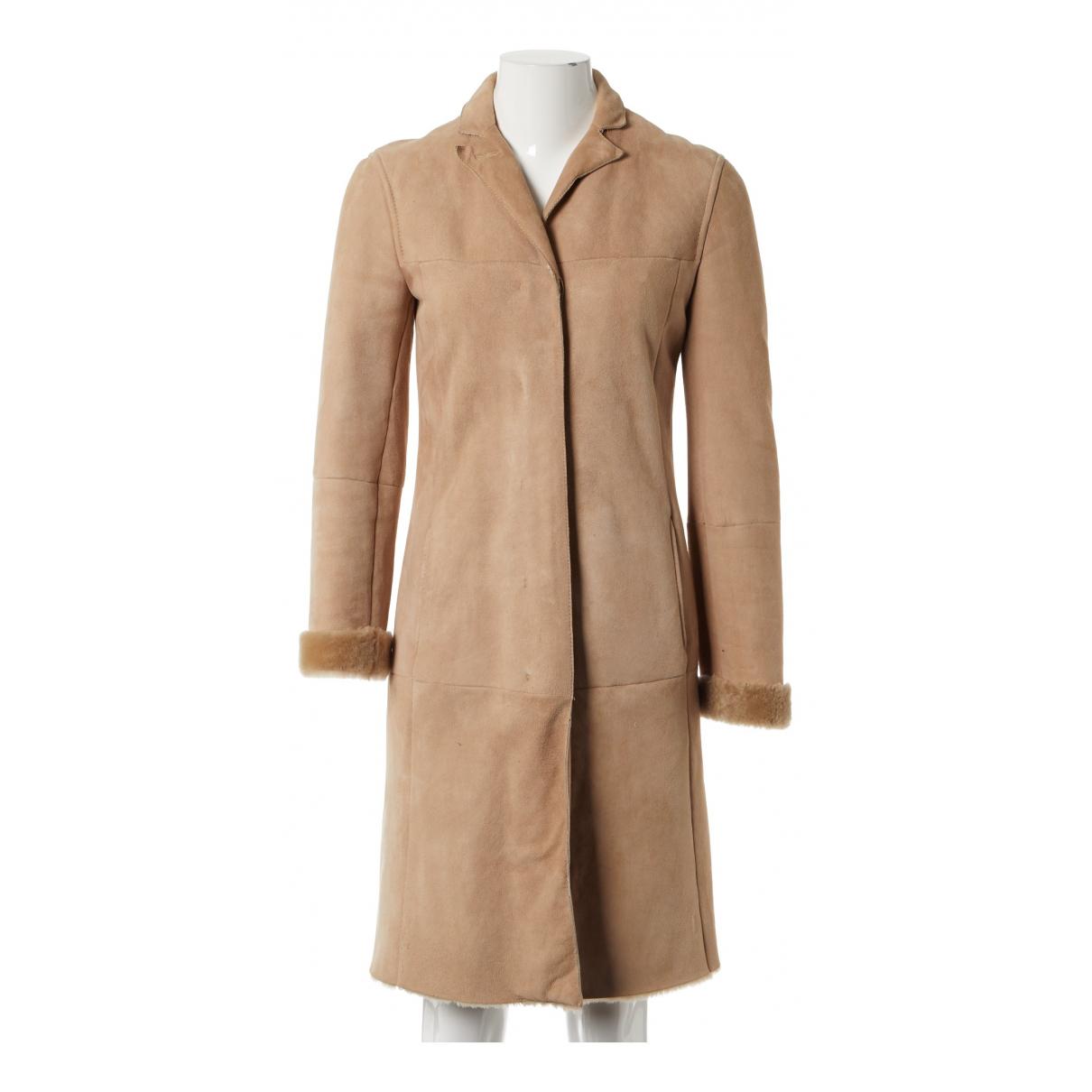 Max Mara s - Manteau   pour femme en mouton - beige