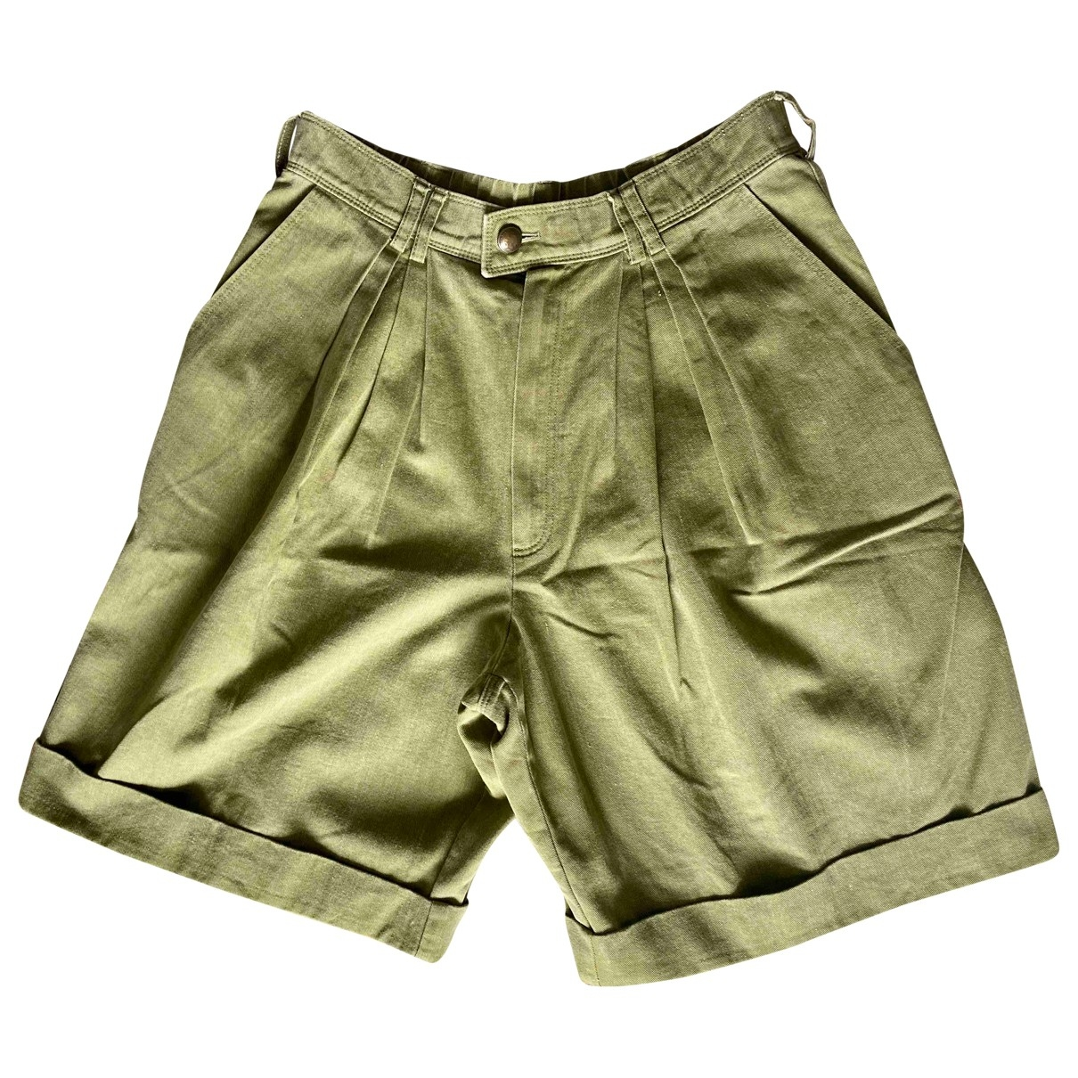 Bogner \N Green Cotton Shorts for Women 14-16 US
