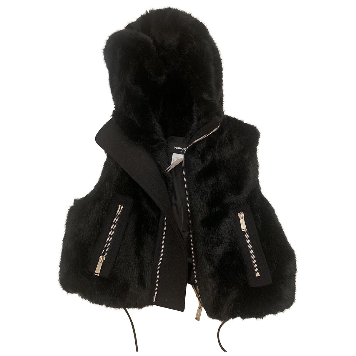 Dsquared2 \N Black Faux fur jacket for Women 38 IT