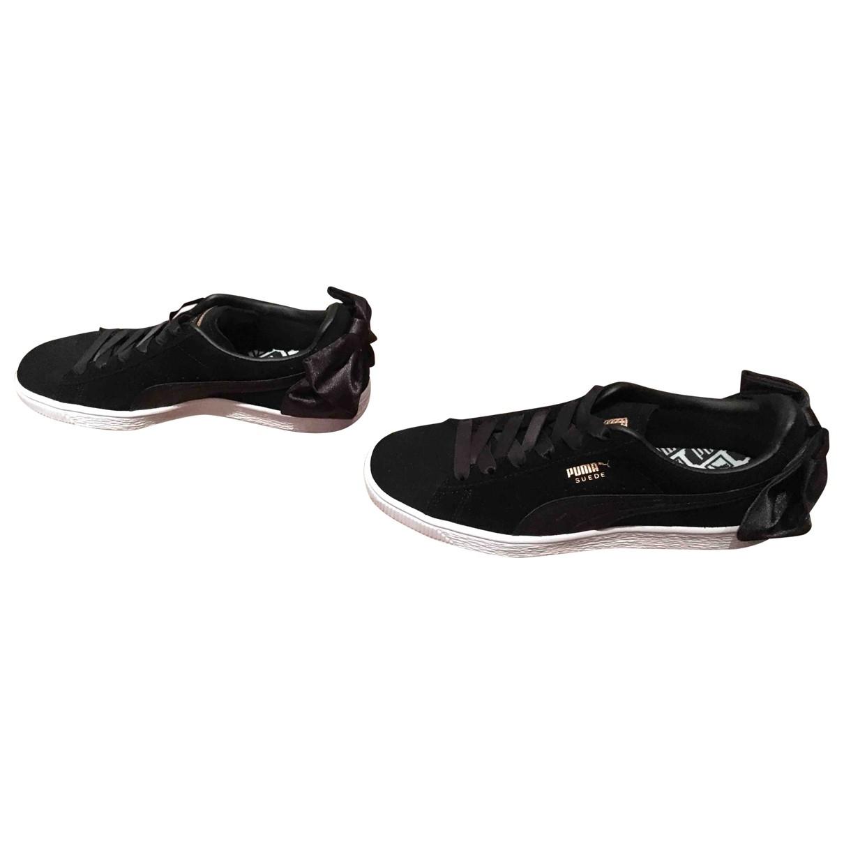Puma - Baskets   pour femme en suede - noir