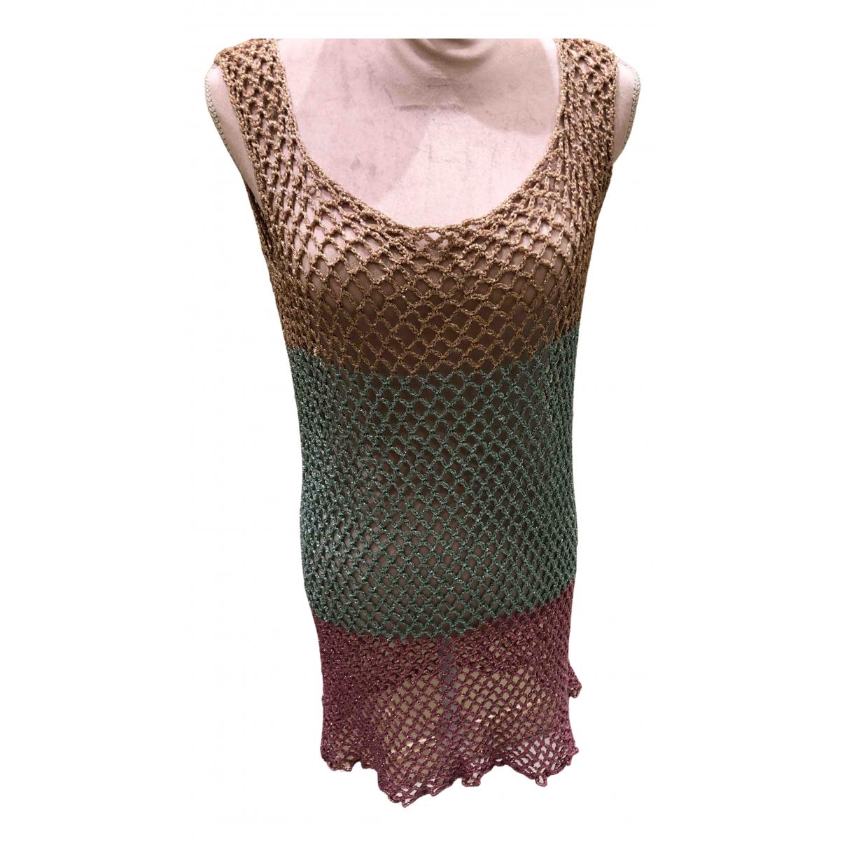 Rose Carmine \N Kleid in  Bunt Mit Pailletten