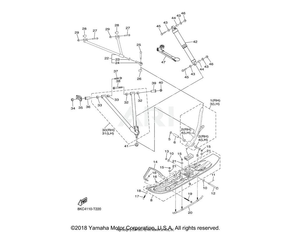 Yamaha OEM 8JP-RA718-00-00 COLLAR, 6