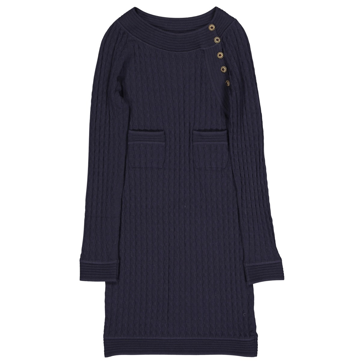 Chanel \N Navy Wool dress for Women 38 FR