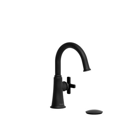 Momenti MMRDS01XBK-05 Single Hole Lavatory Faucet with x Cross Handle 0.5 GPM  in
