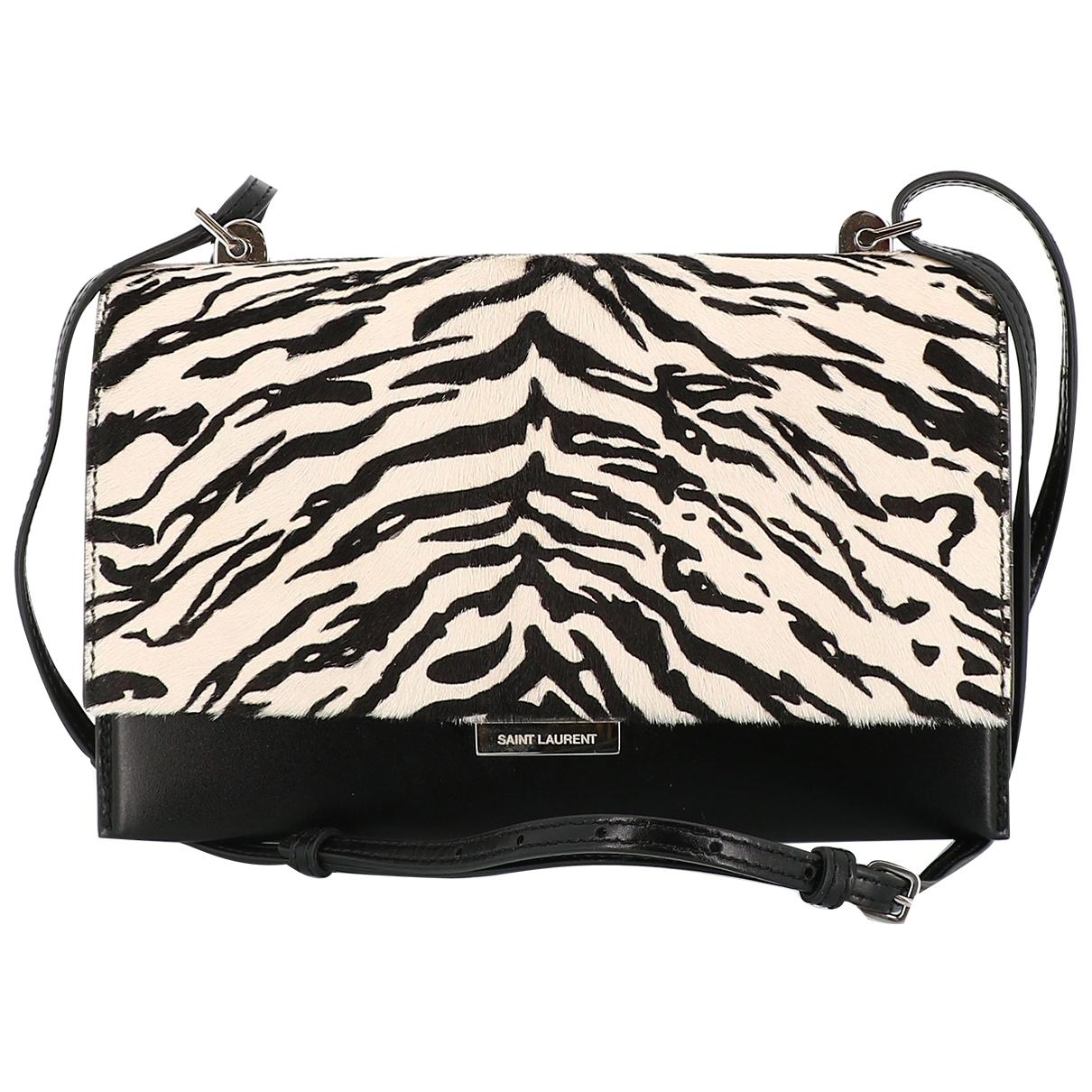 Saint Laurent \N Black Pony-style calfskin handbag for Women \N