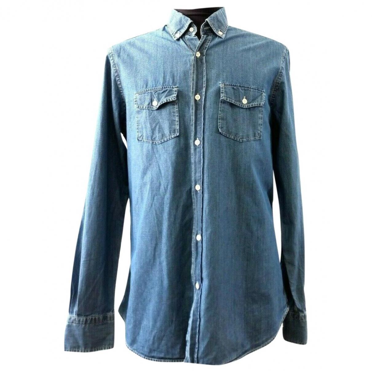 Massimo Dutti \N Hemden in  Blau Baumwolle