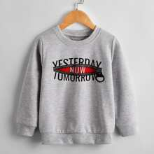 Toddler Boys Letter Graphic Sweatshirt