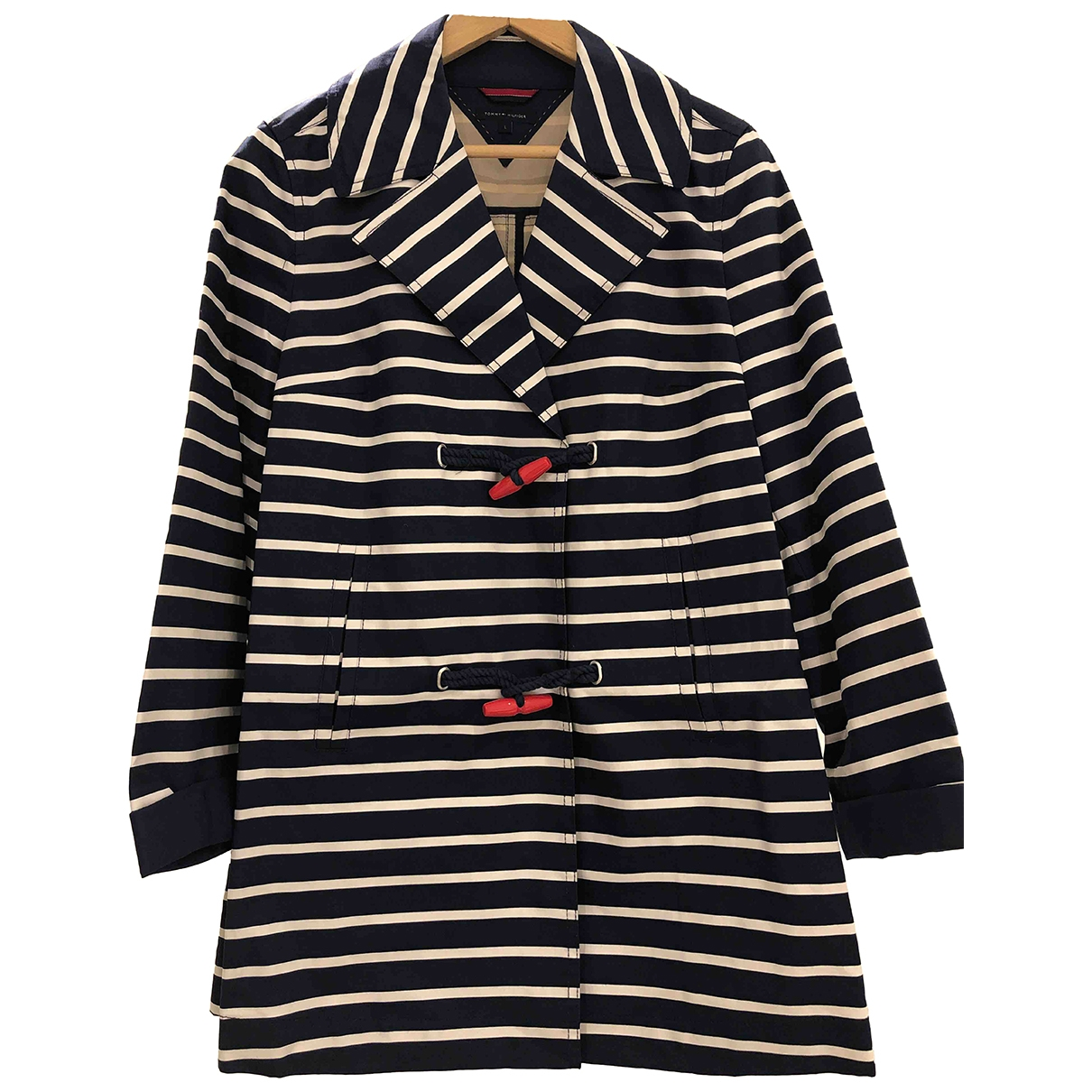 Tommy Hilfiger - Manteau   pour femme en coton - multicolore