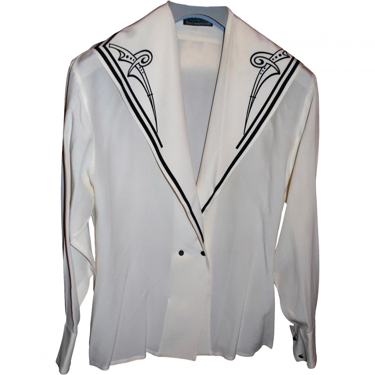 Gianni Versace - Top   pour femme en soie - blanc
