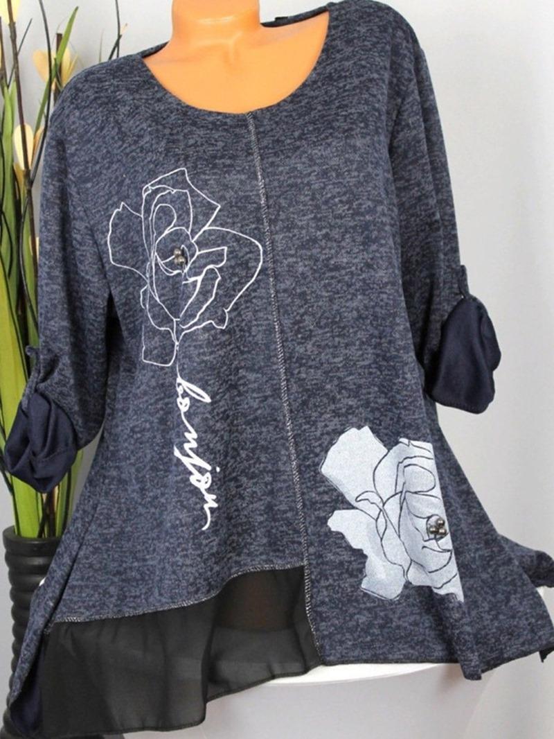 Ericdress Regular Print Loose Mid-Length Sweater