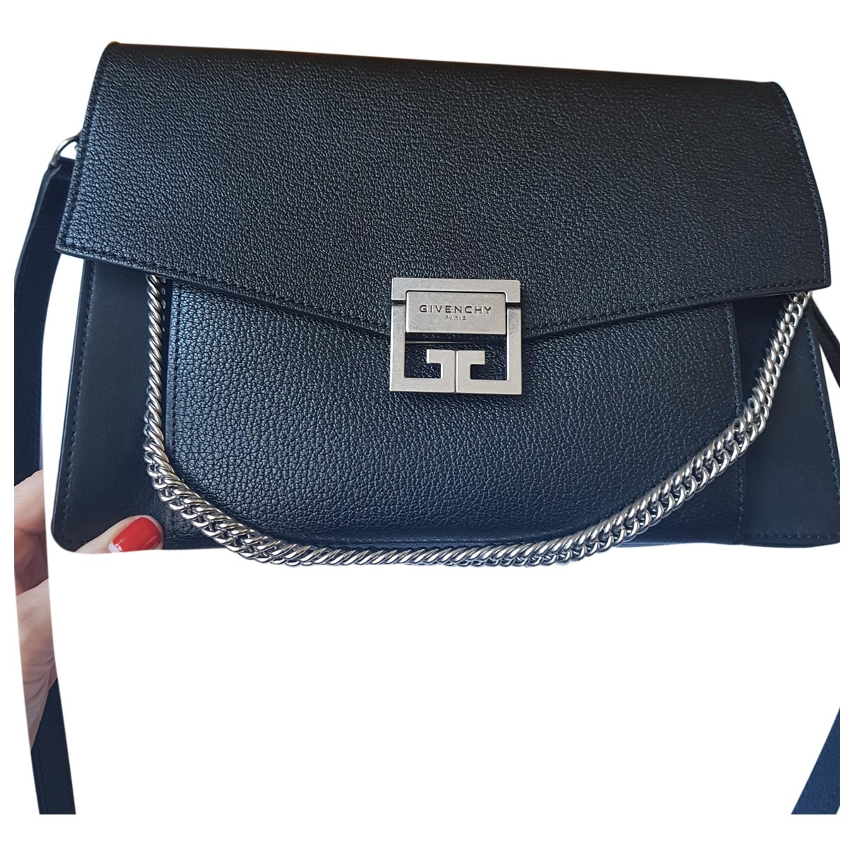 Givenchy GV3 Handtasche in  Schwarz Leder