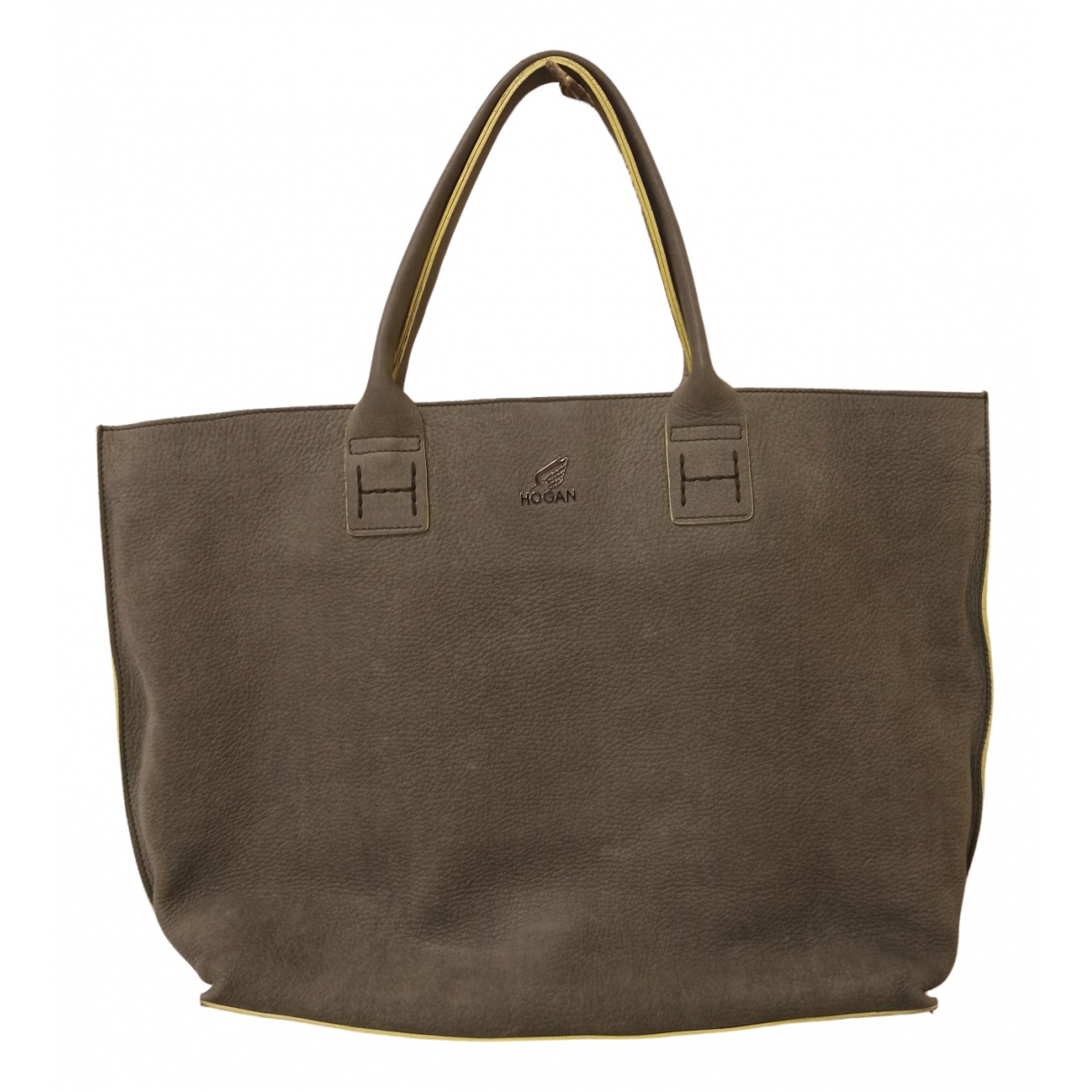 Hogan \N Handtasche in  Gruen Leder