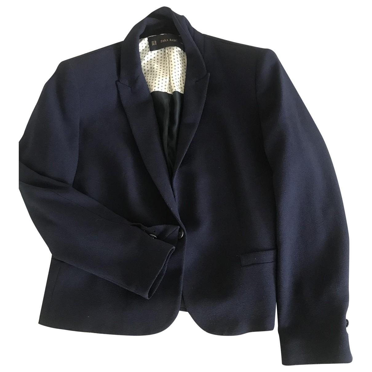 Zara - Veste   pour femme - bleu