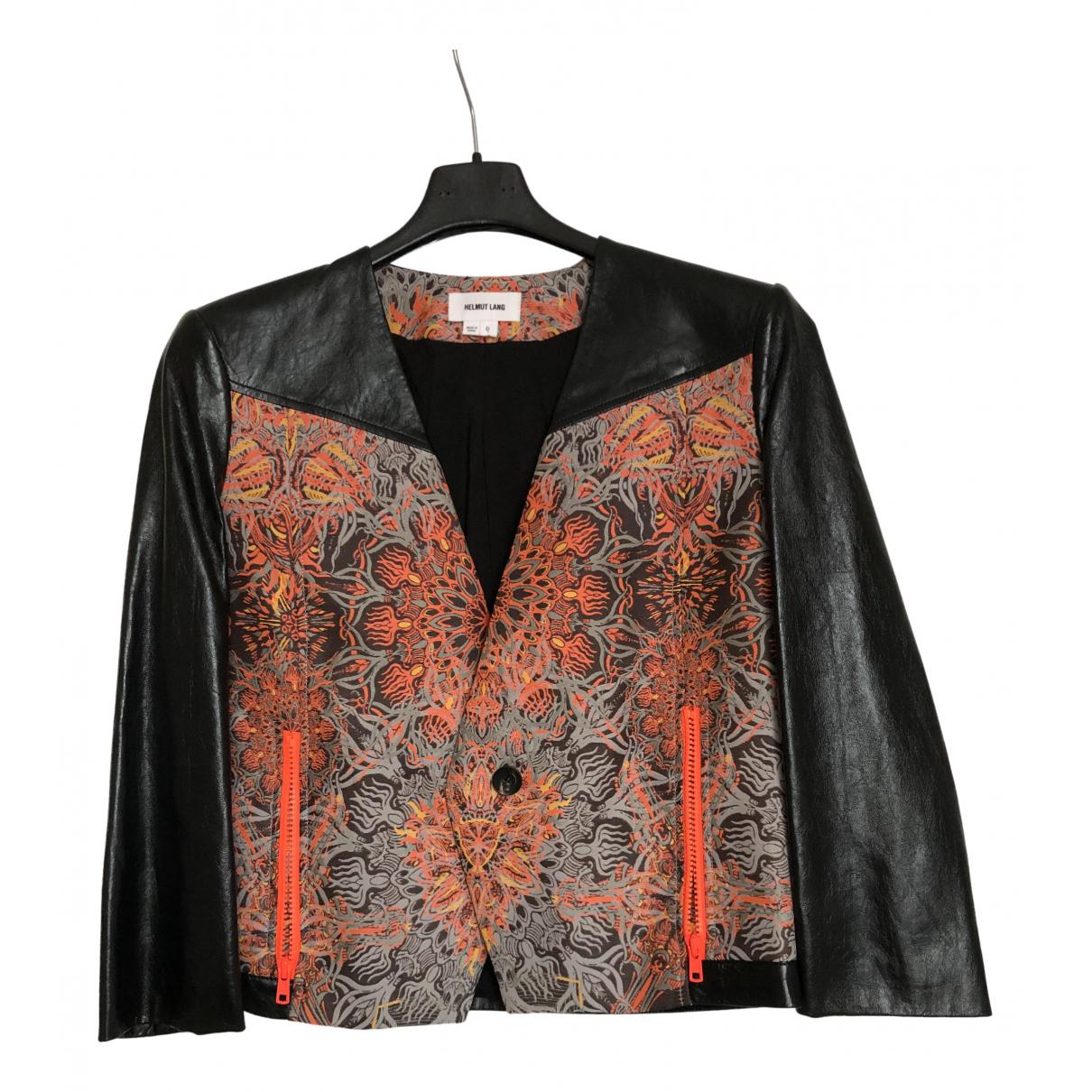 Helmut Lang \N Black Leather Leather jacket for Women 6 UK