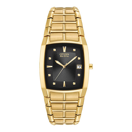 Citizen Paradigm Mens Gold Tone Stainless Steel Bracelet Watch-Bm6552-52e, One Size , No Color Family