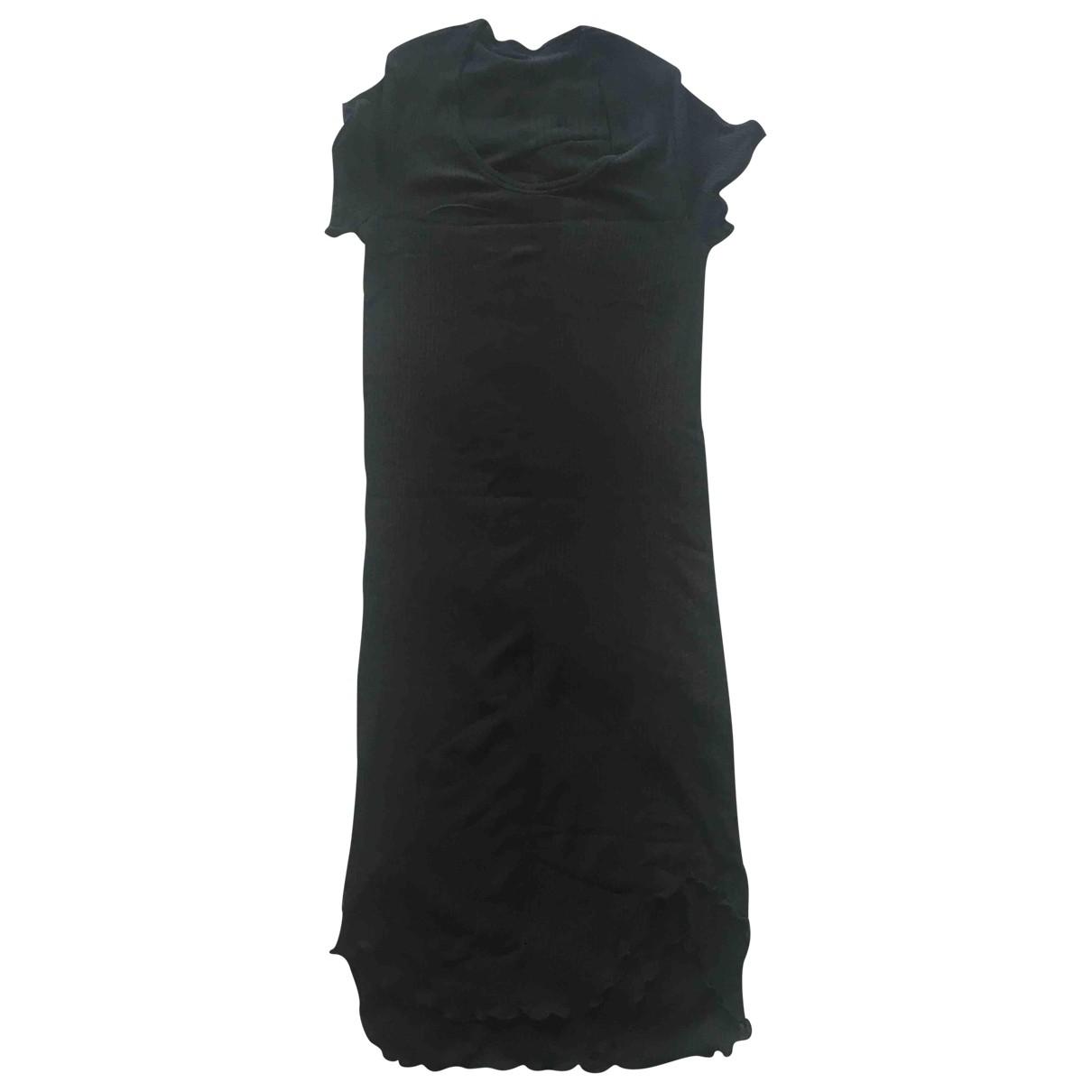 Yohji Yamamoto \N Kleid in  Schwarz Baumwolle
