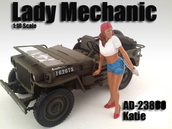 Lady Mechanic Katie Figure For 118 Scale Models by American Diorama
