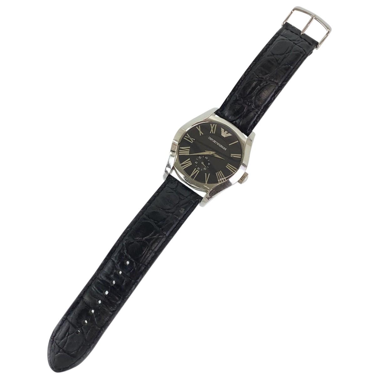 Emporio Armani \N Uhr in  Silber Silber