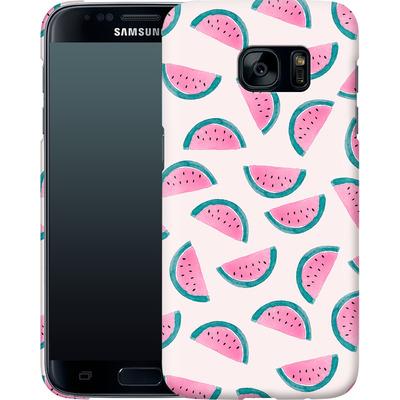 Samsung Galaxy S7 Smartphone Huelle - Watermelon Party von Iisa Monttinen