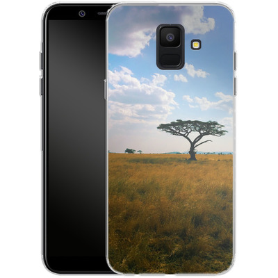 Samsung Galaxy A6 Silikon Handyhuelle - Tanzanian Savanna von Omid Scheybani