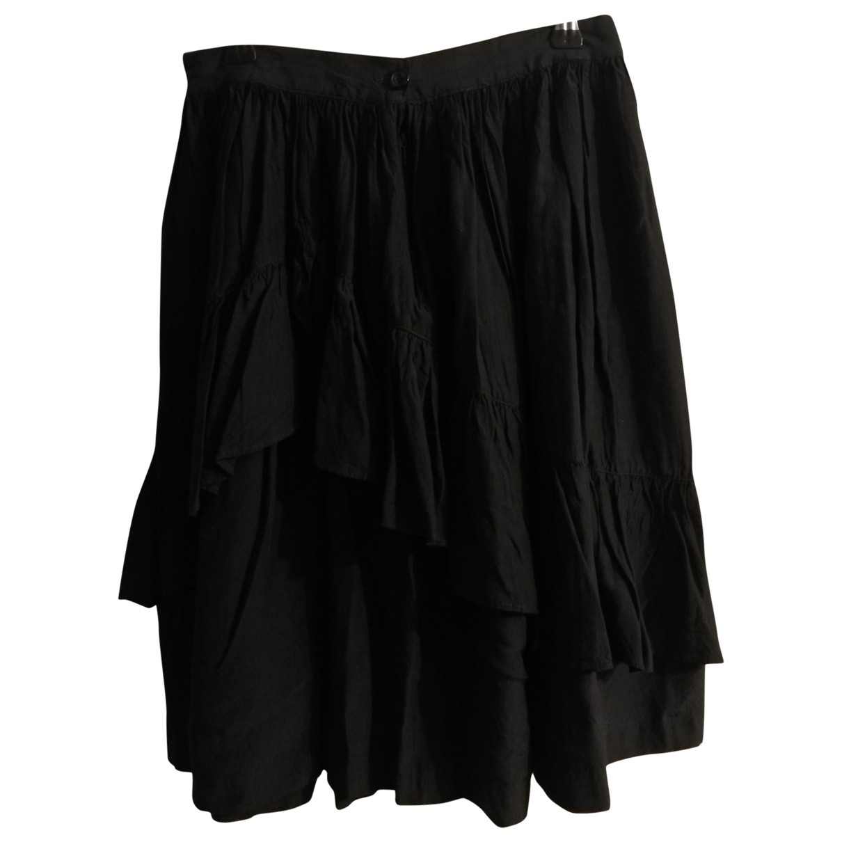 Non Signé / Unsigned \N Black Cotton skirt for Women 38 IT