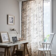 Flower Print Single Panel Curtain
