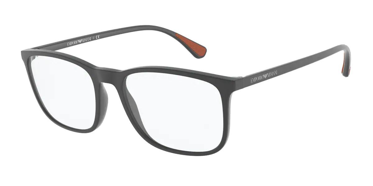 Emporio Armani EA3177 5437 Men's Glasses Grey Size 53 - Free Lenses - HSA/FSA Insurance - Blue Light Block Available