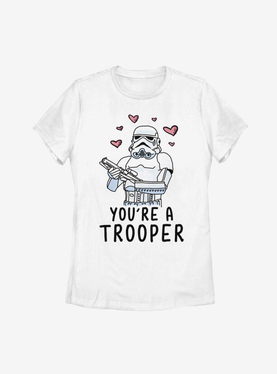 Star Wars Trooper Love Womens T-Shirt