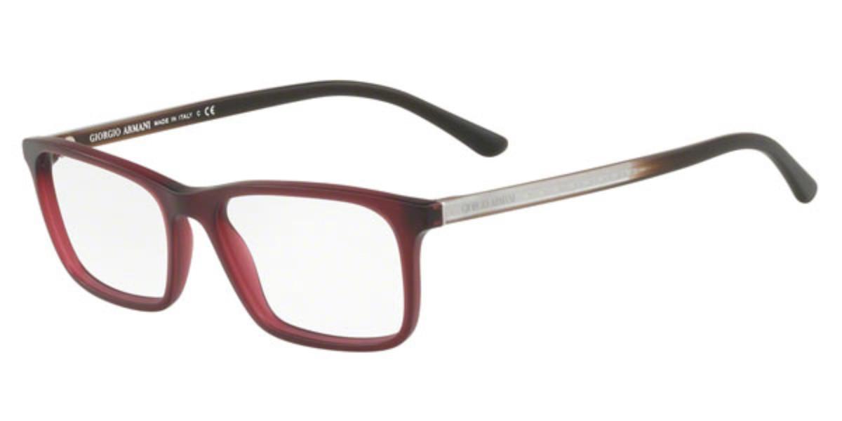 Giorgio Armani AR7145 5624 Men's Glasses Red Size 53 - Free Lenses - HSA/FSA Insurance - Blue Light Block Available