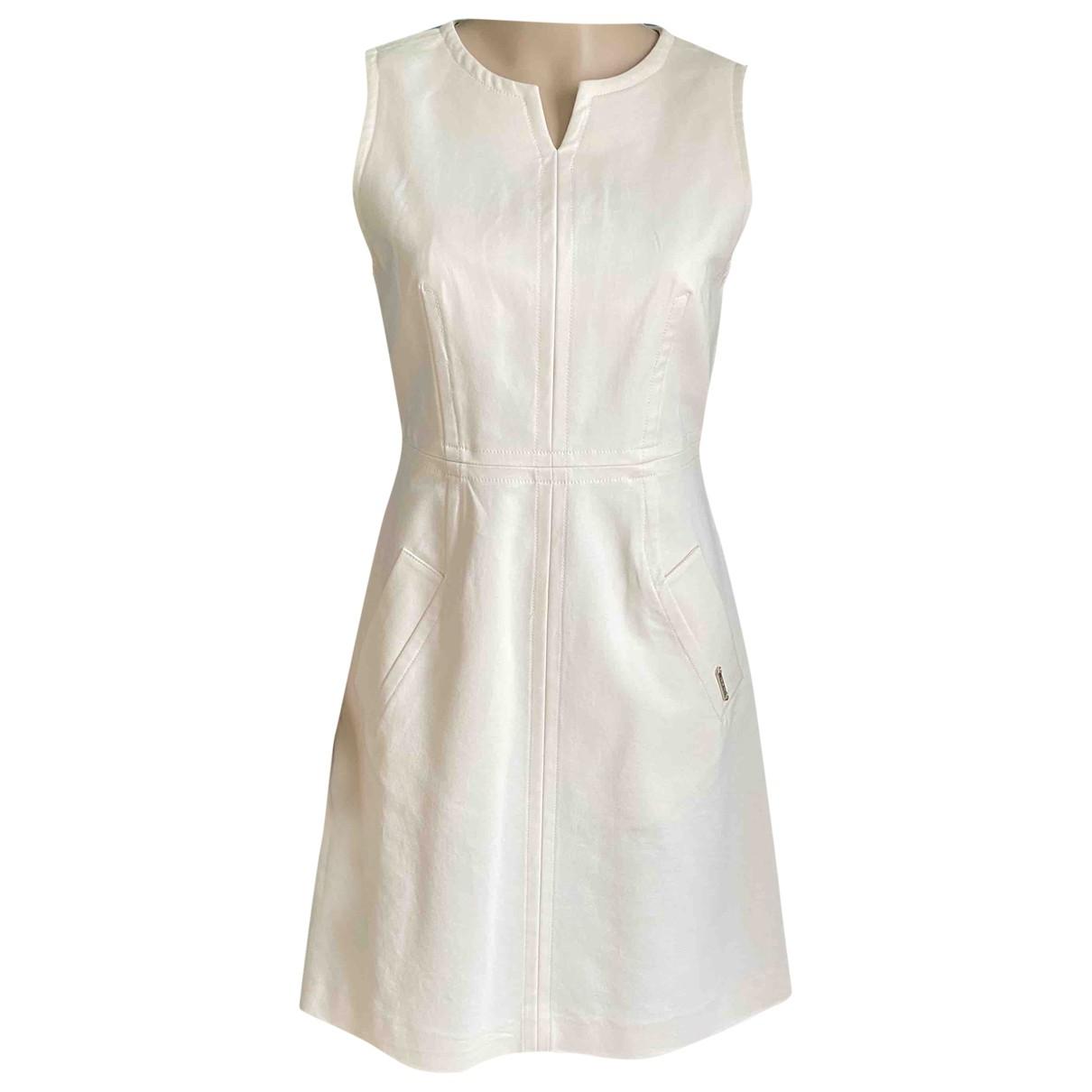Twin Set - Robe   pour femme en coton - elasthane - ecru