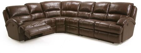 Capri Collection Sectional Sofa with Sinuous Seat Springs  Grade Deluxe Foam Cushion  Split Back Cushion and Leather Air Upholstery in Brown