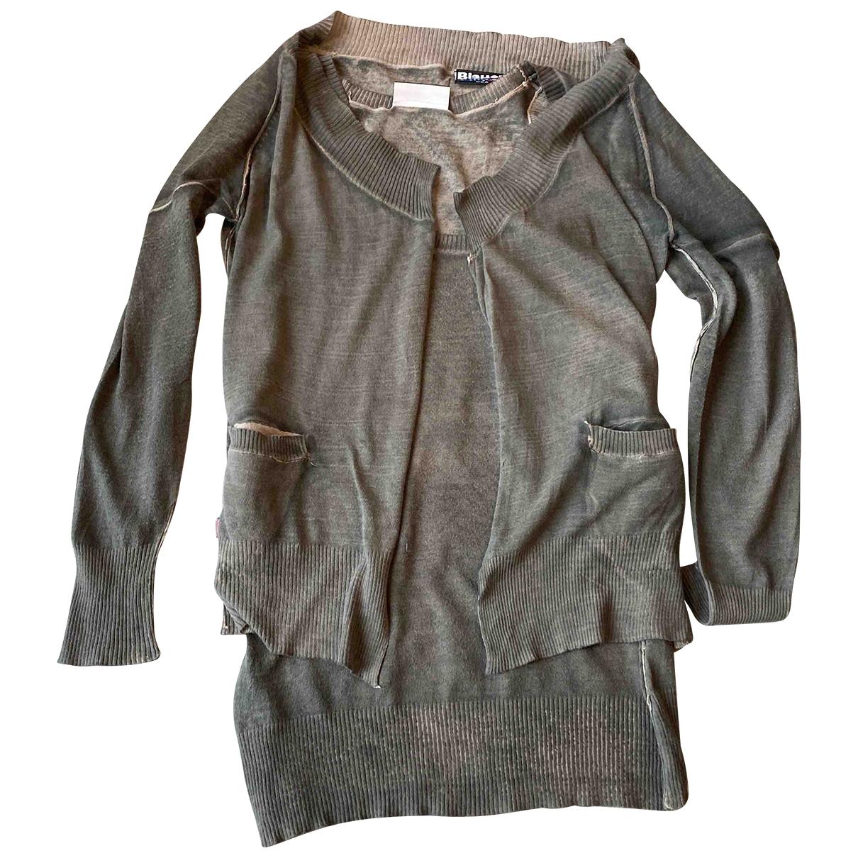 Blauer \N Pullover in  Khaki Baumwolle
