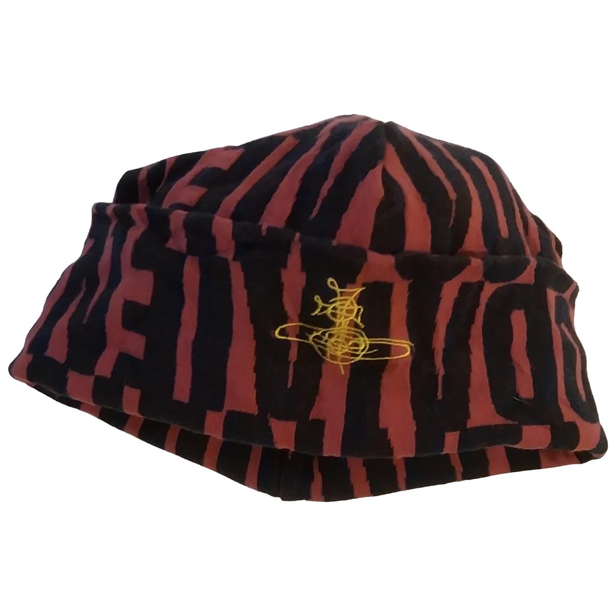 Vivienne Westwood - Chapeau & Bonnets   pour homme en coton - bordeaux