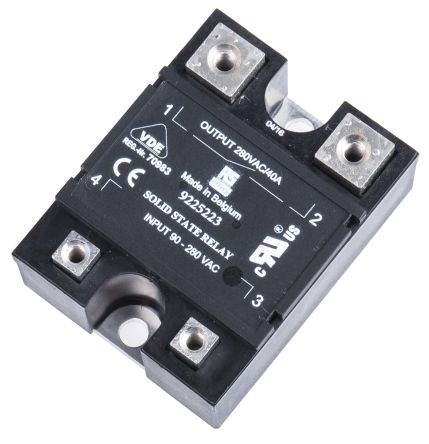 RS PRO 40 A rms SPNO Solid State Relay, Zero Cross, Panel Mount, TRIAC, 280 V ac Maximum Load