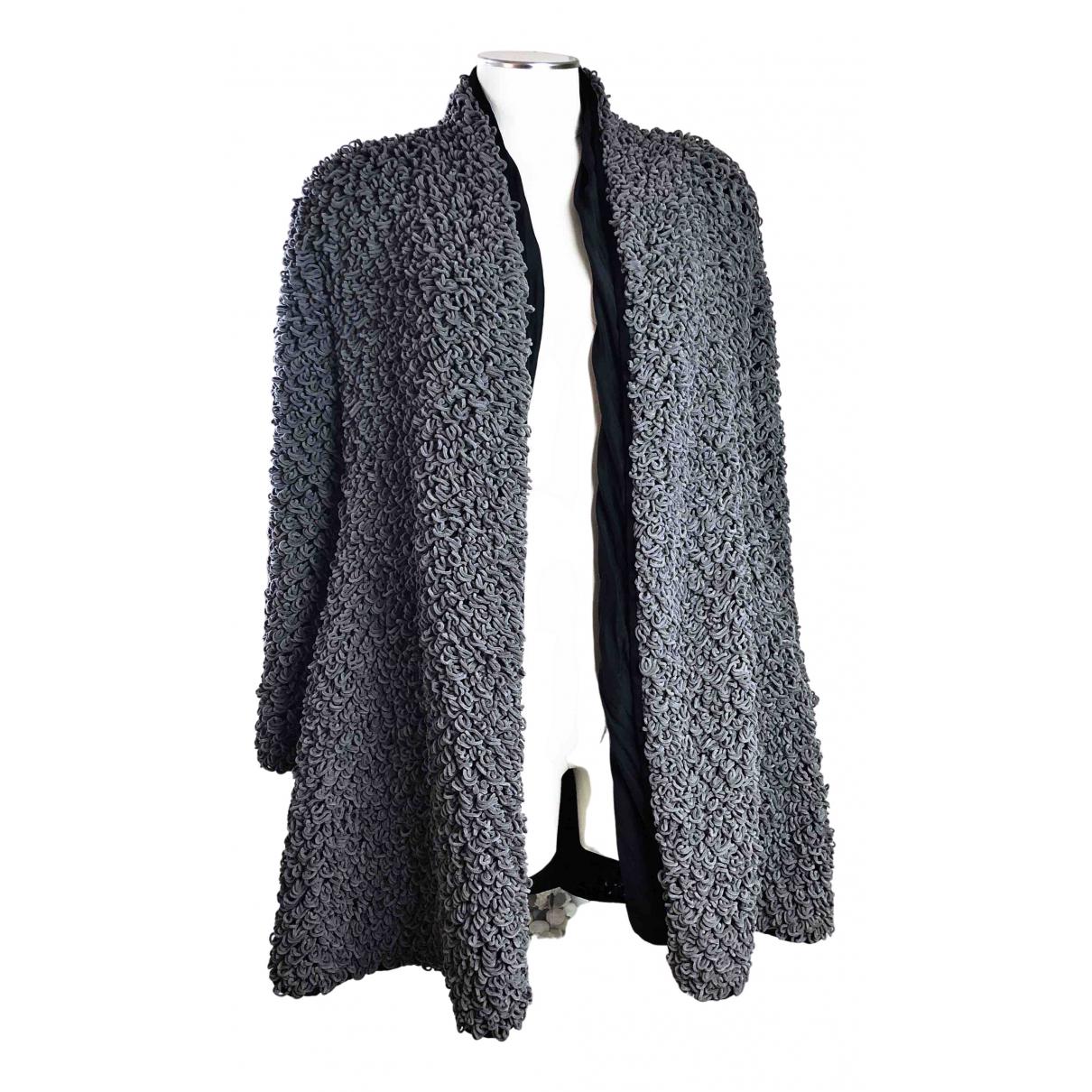 Giorgio Armani - Manteau   pour femme en soie - gris