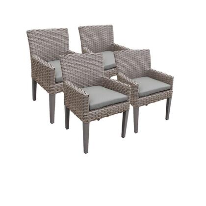 TKC297b-DC-2x-C 4 Oasis Dining Chairs With Arms with 1 Cover in