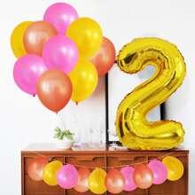 22pcs Digital Decorative Balloon Set